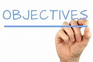 Objectives - Handwriting image
