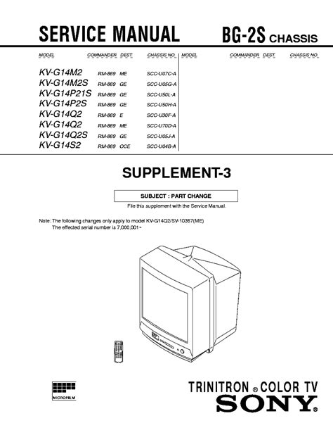 Diagram Of Sony by Sony Chassis Xe 4 Kv 2096ub Service Manual Free