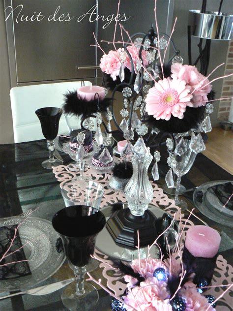 Décoration De Table Noir Et Rose, Boudoir...