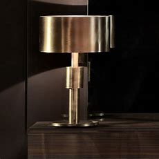 Contemporary Burnished Brass Table Lamp