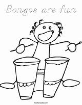 Coloring Pages Kindergarten Bongos Fun Bongo Colouring Ll Twistynoodle sketch template