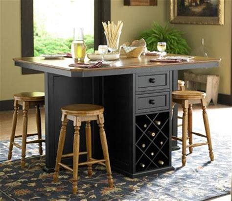 kitchen table wine storage imposing bar height kitchen table island with black paint