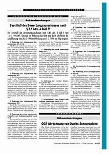 Goä Abrechnung Beispiel : bekanntmachungen go abrechnung von duplex sonographien ~ Themetempest.com Abrechnung