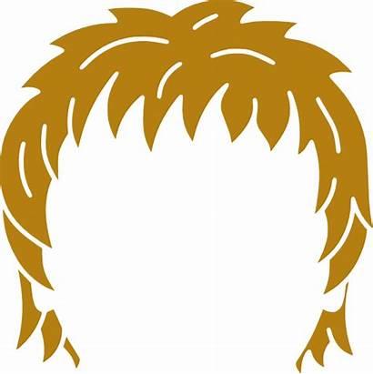 Hair Clipart Brown Clip Cartoon Vector Rid