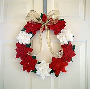 how to make a poinsettia flower out of paper make a felt poinsettia wreath