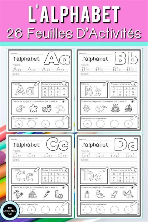 french alphabet practice lalphabet francais feuilles