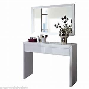 Schminktisch Weiß Modern : details zu neu schminktisch spiegel konsole kosmetiktisch hochglanz lack weiss ebay ~ Frokenaadalensverden.com Haus und Dekorationen