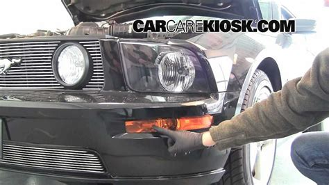 how to change the fog light headlight and turn singals on