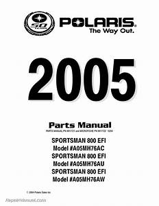 2005 Polaris Sportsman 800 Efi Atv Parts Manual
