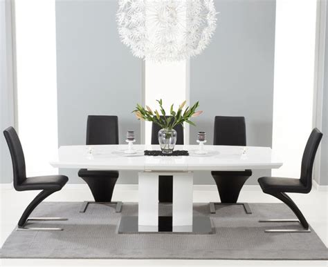 White Dining Table And Chairs For Sale by Buy The Richmond 180cm White High Gloss Extending Dining