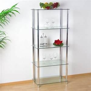 étagère En Verre Ikea : etag re biblioth que en verre et aluminium s jour salon salle de bain ~ Teatrodelosmanantiales.com Idées de Décoration