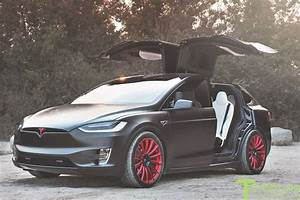 Project T-Rex - 2016 Tesla Model X P90D Ludicrous - White Interior - 22 Inch MX114 Forged Wheels ...