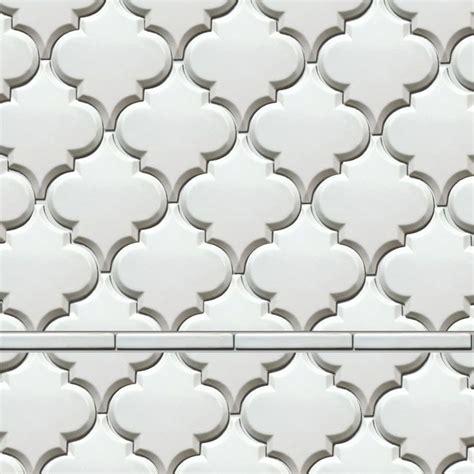 beveled arabesque tile the beveled arabesque white tile tiles i