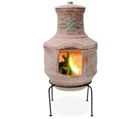 Chiminea Grill Rack by Chiminea With Grill Rack Stand Outdoor Bbq Fireplace