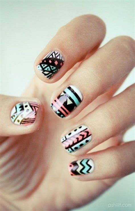 pretty nail designs tribal nail design nails picture