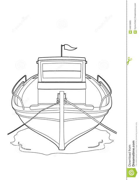 Dessin Bateau De Peche Facile by Dessin D Un Bateau De P 234 Che Illustration De Vecteur