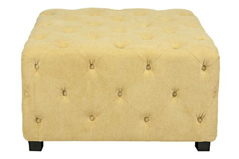 Large Yellow Ottoman - duncan large tufted yellow cube ottoman at gardner white