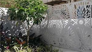 Kleiner Baum Garten : bild moderner sichtschutz garten heller zaun metall aabbeatv ~ Lizthompson.info Haus und Dekorationen