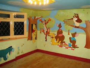 winnie the pooh and friends mural for kids room decor