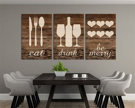 Peel and stick wall decals are a great solution! Rustic Eat Drink Be Merry Eat Wall Art Eat Sign Rustic Eat   Etsy in 2020   Kitchen wall decor ...