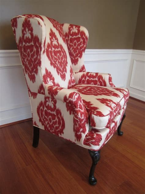 Chair Slip Cover Pattern by Wingback Chair Beautiful Pattern Living Room
