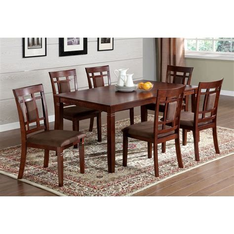 cherry dining table shop furniture of america montclair dark cherry dining set