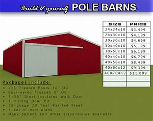 Products pole barns buildings meek39s lumber and for Barn sizes and prices