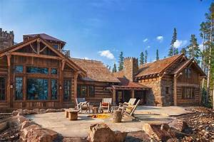 Foxtail Residence Big Sky Log Cabins By Teton Heritage