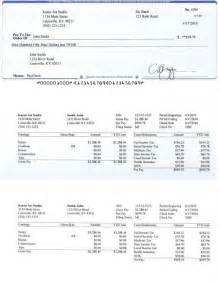 Pay Stub Template Word Document