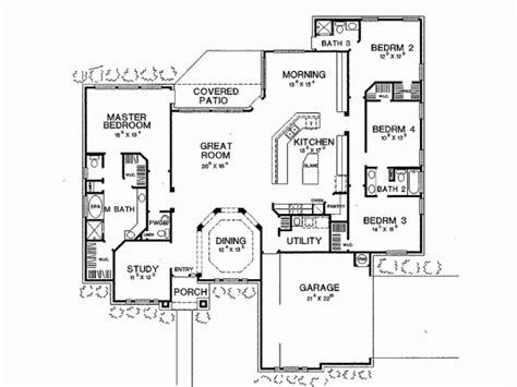 New American Floor Plans by New American House Plan With 2661 Square And 4