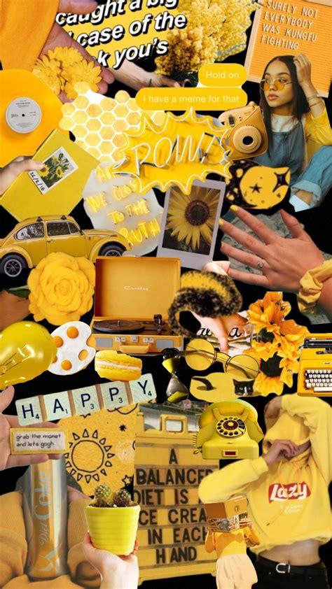 yellow aesthetic moodboard iphone wallpaper yellow
