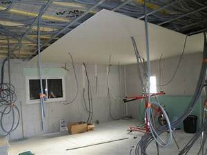 Pose Rail Placo Plafond : pose placo plafond maison travaux ~ Dailycaller-alerts.com Idées de Décoration
