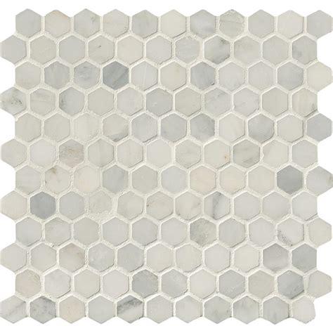 home depot hexagon marble tile bees knees bathroom kime