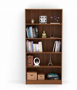 Bluewud, Alex, Wall, Book, Shelf, Home, Decor, Display, U0026, Storage, Rack, Cabinet, Unit, Walnut, 5, Shelves