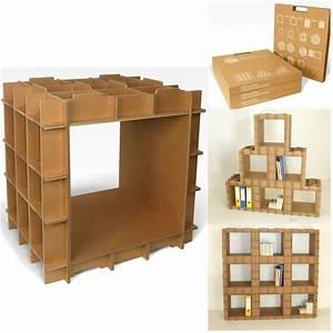 Meuble De Rangement Cube : module de rangement en carton stri cube de l 39 atelier chez soi ~ Teatrodelosmanantiales.com Idées de Décoration