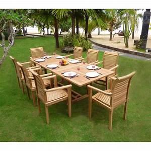 Salon Jardin Teck : mobilier en teck de jardin table flores en teck brut avec ~ Melissatoandfro.com Idées de Décoration