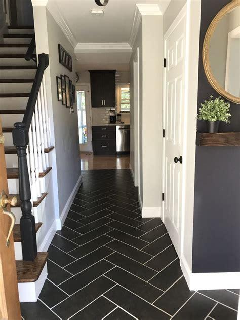 herringbone hallway tiled hallway hallway decorating