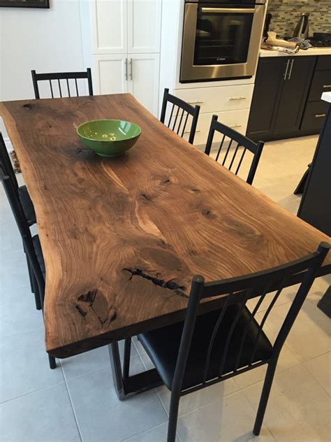 live edge black walnut dining table live edge dining table black walnut walnut table by
