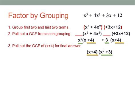 Factoring Polynomials Gcf Factor By Grouping Factor A Trinomial  Ppt Video Online Download