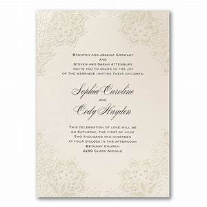shimmering lace wedding invitations little flamingo With embossed wedding invitations australia