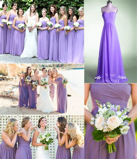 bridesmaid lavender dresses purple the color for bridesmaids 2014 tulle chantilly wedding