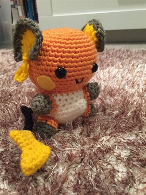 Raichu - Pikachu's big brother.   Pokemon crochet pattern ...
