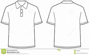 Polo Shirt - Front And Back View Isolated Stock Vector ...