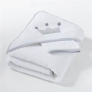 Cape De Bain Enfant : cape de bain gant au lit mon petit doudou blanc gris la redoute interieurs la redoute ~ Teatrodelosmanantiales.com Idées de Décoration