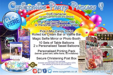 christening party hire ozzy james parties