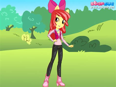 Equestria Girls Apple Bloom By Unicornsmile On Deviantart