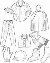 Clothes Coloring Pages Winter Getcolorings sketch template