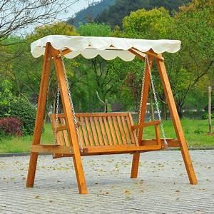 Fauteuil Jardin Bois : balancelle balancoire hamac banc fauteuil de jardin bois de pin 2 places charge max 300kg 03 ~ Teatrodelosmanantiales.com Idées de Décoration