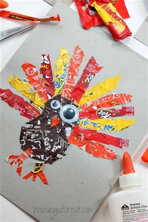If you order fully wrapped personalized candy bars, you can choose from hershey's milk. Candy Wrapper Turkeys | Housing a Forest