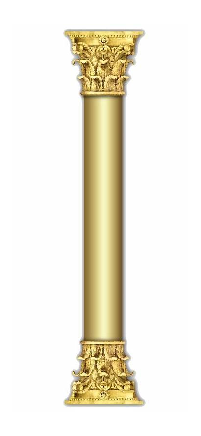Column Pillar Columns Pillars Gold Rose Decoration